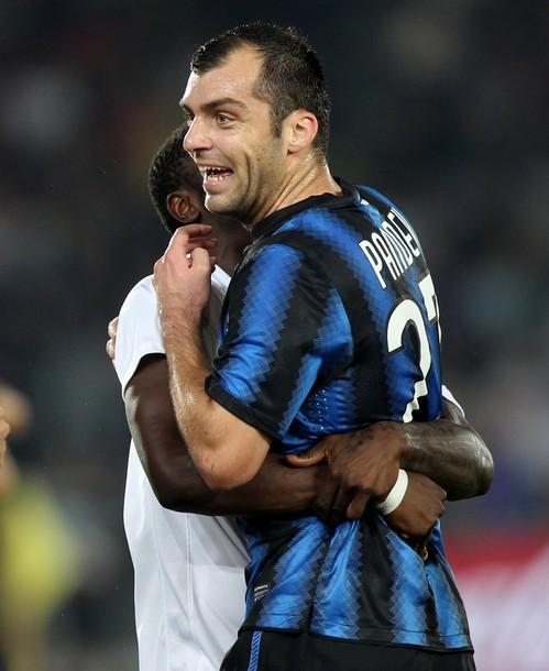 Hugs for Pandev's goal