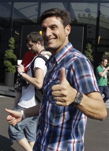 Javier Zanetti likes formula 1 racing
