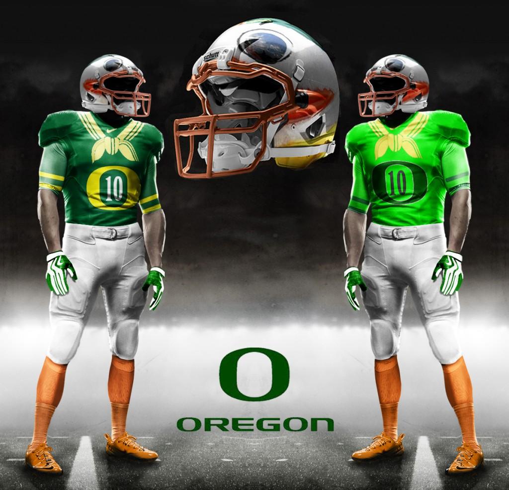 Oregon Ducks New Football Uniforms