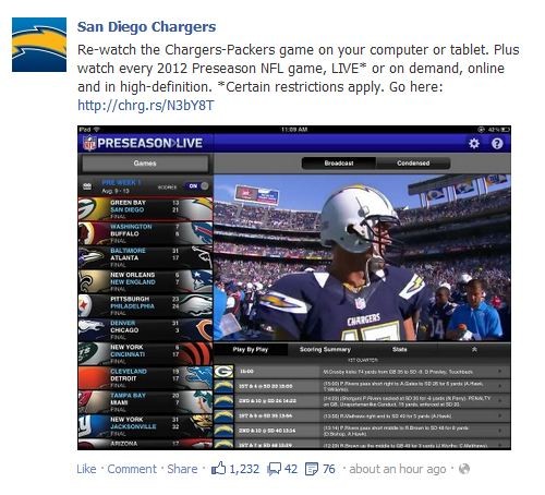 San Diego Chargers Broadcast: NFL Preseason Live: A Bad Deal For Locals