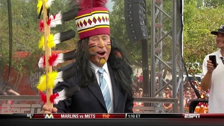 Lee Corso dresses as Chief Osceola on ESPN's College Gameday (Video)