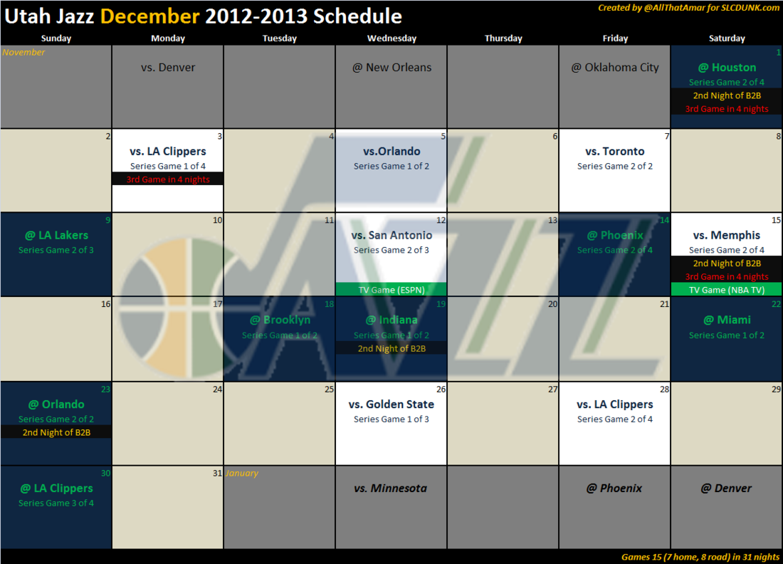 utah jazz remaining schedule