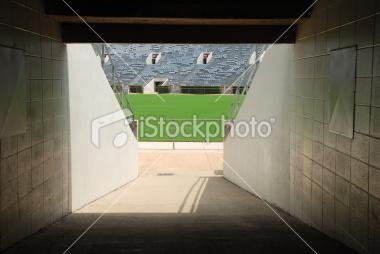 Stock Photo  Football Stadium Tunnel