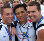 Toronto jocks at the 2006 Outgames.
