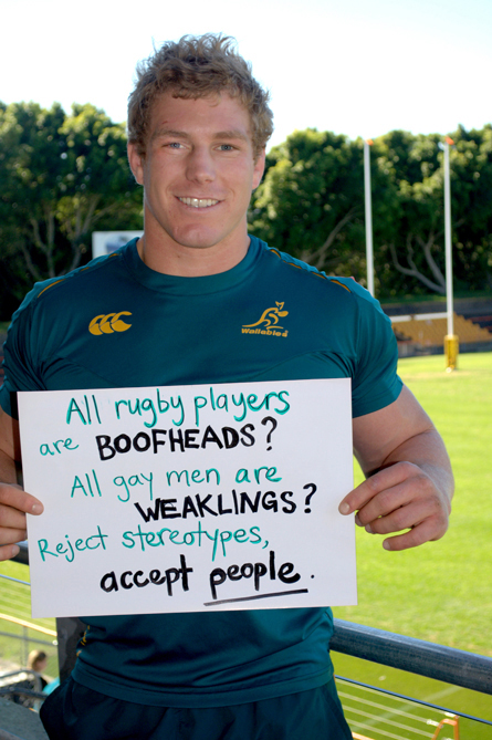 Wallabies player David Pocock.