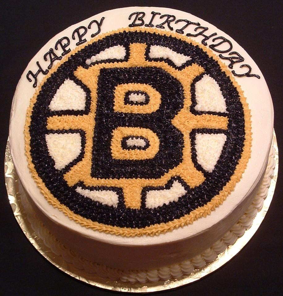 Boston Hockey Birthday Cake Pic