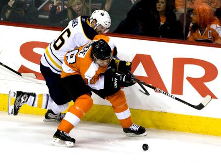 Flyers-danny-biere-battles-sabres-thomas-vanek-for-puck-during-second-period-philadelphia