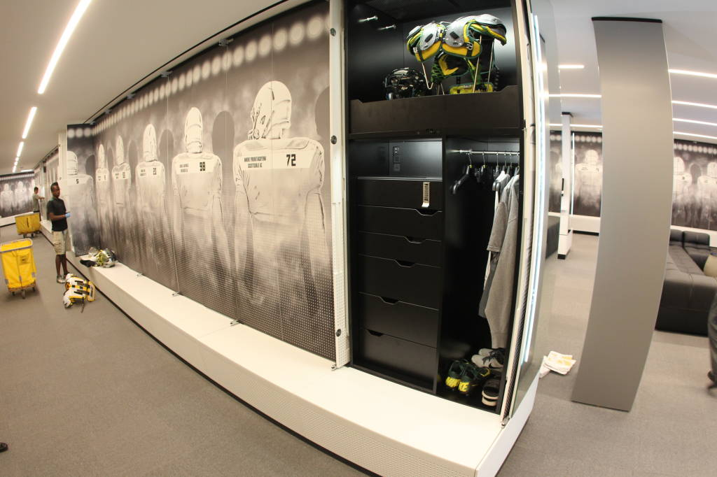 Oregon Ducks Football Locker Room