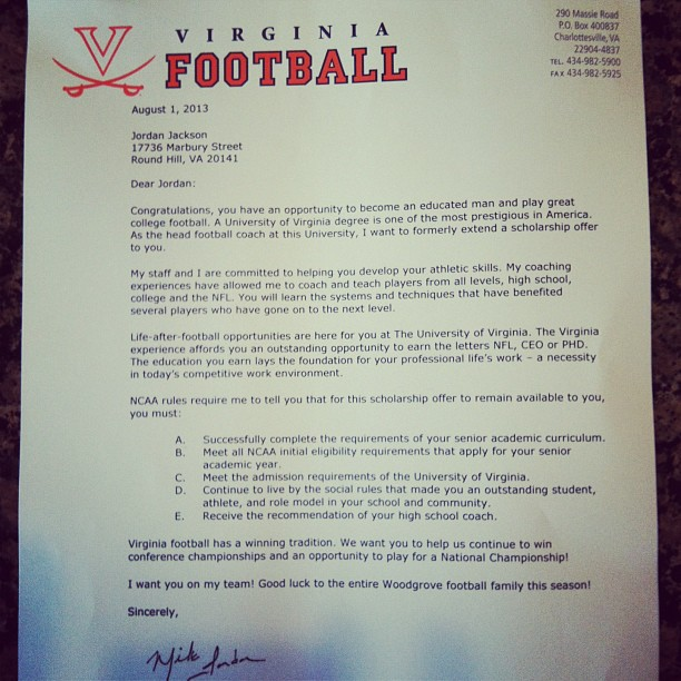 what college football scholarship letters look like the good bad - Scholarships Essay Examples