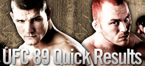 UFC 89 Quick Results