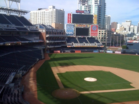 Petco Park, view from press box