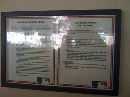 Petco Park ground rules