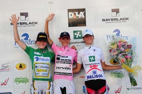 Giro Donne 2009 Podium