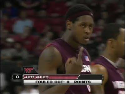 Virginia Tech's Jeff Allen is a thug.