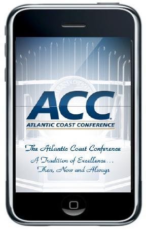 Rendering of the ACC iPhone App