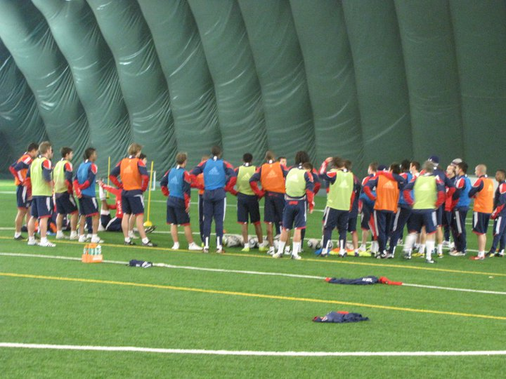 The Fire welcomed a large group of trialists to the Bridgeview Sports Dome