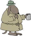 40924-clip-art-graphic-of-a-broke-dog-in-a-hat-and-coat-holding-out-a-cup-and-begging-for-money-by-djart_medium