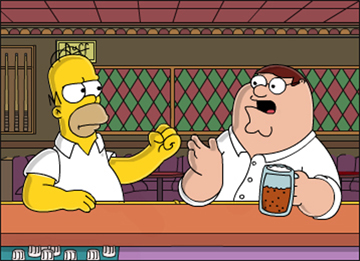 The_simpsons_homer_simpson_vs_family_guy_peter_griffin_medium
