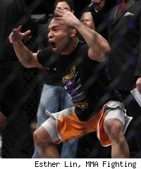 John Dodson celebrates his Ultimate Fighter 14 Finale win.