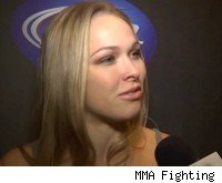 Ronda Rousey fights at Strikeforce Challengers 20.