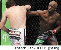 Guillard punches Roller at UFC 132.