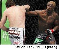 Guillard punches Roller at UFC 132.