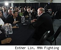 Dana White will answer questions from the media at the UFC 131 post-fight press conference.