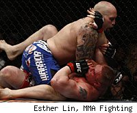 Shane Carwin lost to Brock Lesnar in the main event of UFC 116.