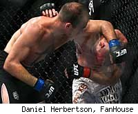 Brian Ebersole upsets Chris Lytle at UFC 127.