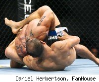 Zhang Tie Quan taps out Jason Reinhardt at UFC 127.