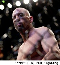 UFC Hall of Famer Mark Coleman steps inside the cage.