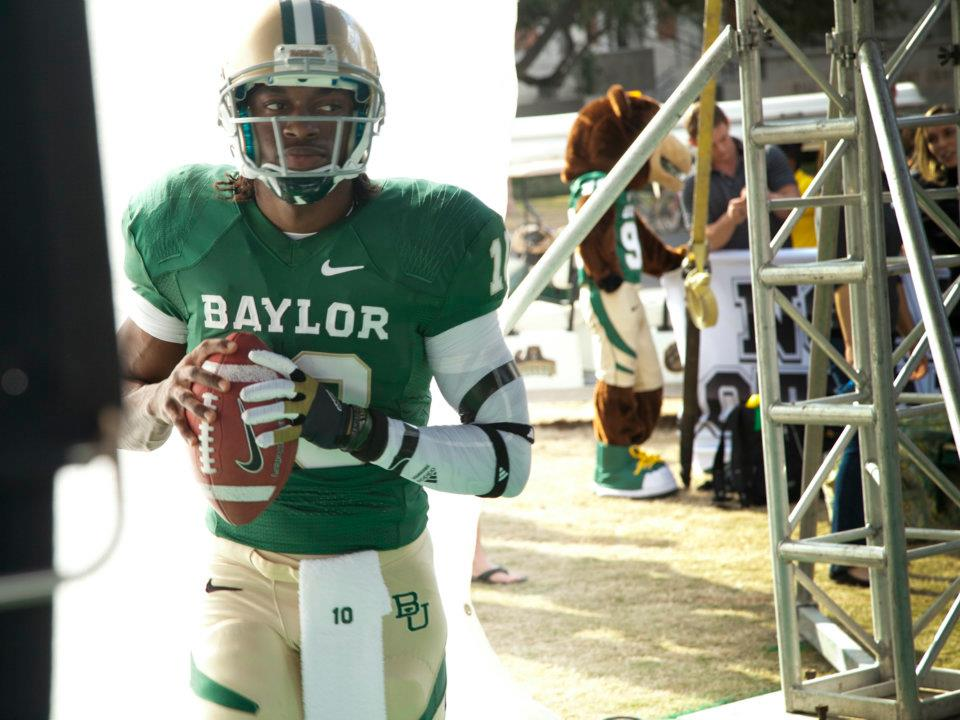 PHOTO: Robert Griffin III In A Baylor Uniform, Maybe For The Last ...