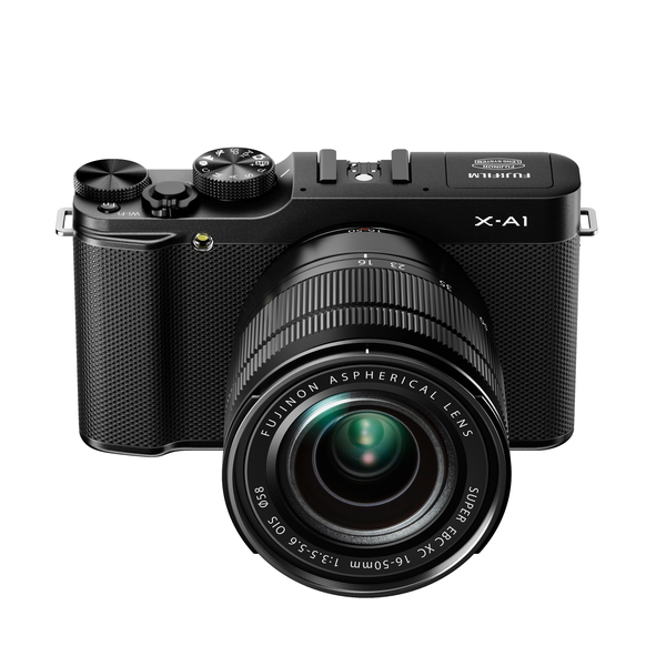 X-a1_black_front_high_angle_16-50mm