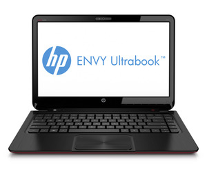 Hp envy ultrabook_frontopen_blackred