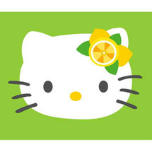 Lemon-lime-hello-kitty-wallpaper