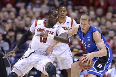 Louisville vs. Duke score: Cardinals lead Blue Devils at halftime, 35-32