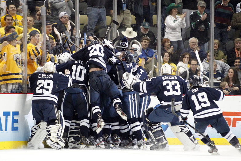NCAA: Frozen Four - Yale Wins National Championship With Solid Defense In Stunning 4-0 Victory Over Quinnipiac