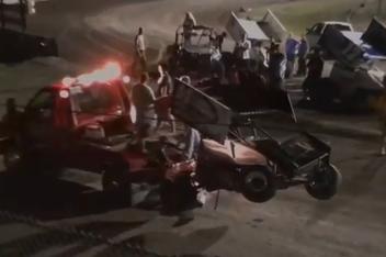 Tony Stewart Sprint Car Wreck