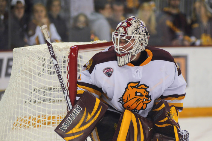 NCAA: Minnesota Duluth Upsets Notre Dame