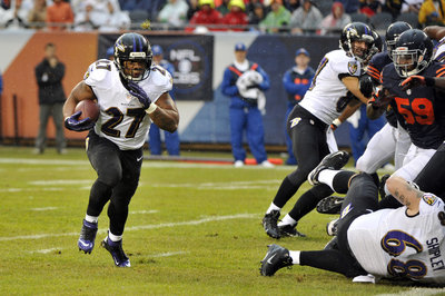 A.Q. Shipley's monster block on Ray Rice's TD