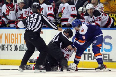 Travis Hamonic Suspended 1 Game for Late Instigator on Ryan Carter