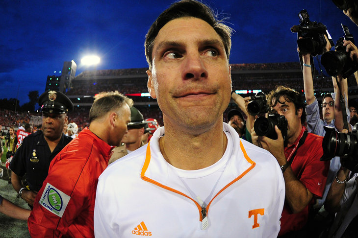 Derek Dooley following Saturday's loss to Georgia.
