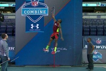 Vertical jump record nfl combine measurements