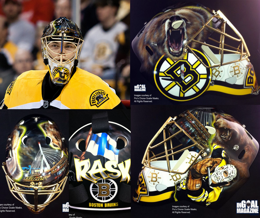 a9ad766f4 A look at Tuukka Rask s fantastic mask for 2019 Winter Classic