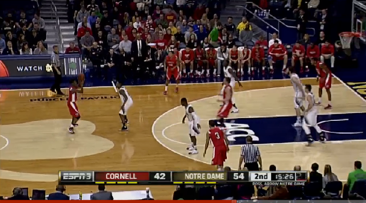 Ofd Films Notre Dame Basketball Vs Cornell One Foot Down