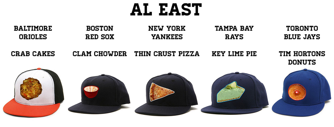 What if every major league team had a food-related baseball cap  - The  Crawfish Boxes 9e5f0118b40