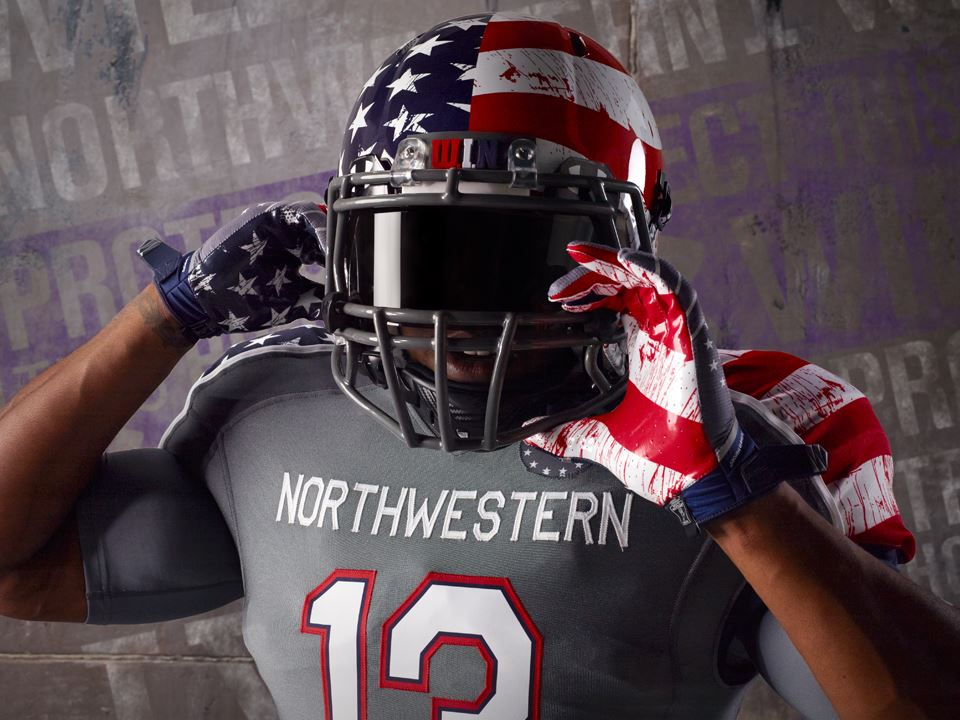Northwestern releases star-spangled (and not bloody!) Wounded ... 1b90b0698
