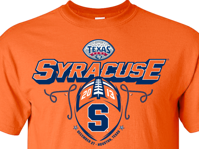 low priced e6ece 2ccd2 Ranking Syracuse's 2013 Texas Bowl T-Shirts - Troy Nunes Is ...