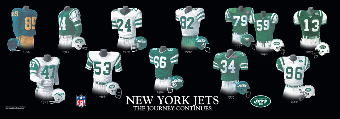 Jets Uniform History 30
