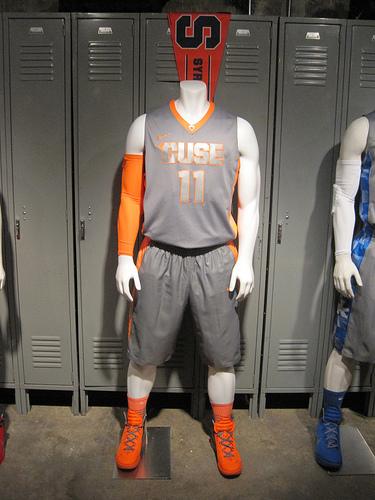 best service 671d3 cc25f PHOTOS: Syracuse Basketball Nike Hyper Elite Platinum ...